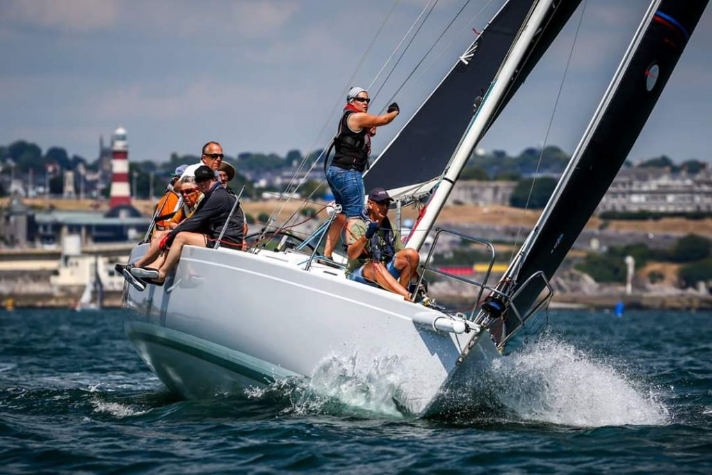 A J105 - competing in the Ullman points race series
