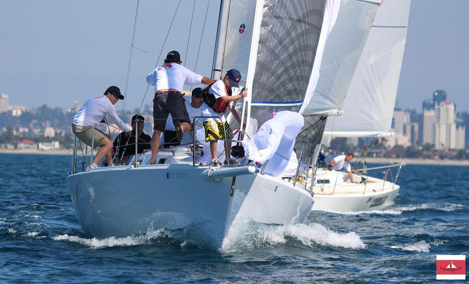 Ullman Sails powered J/105 'Current Obsession' at the 2014 SDYC NOOD Regatta