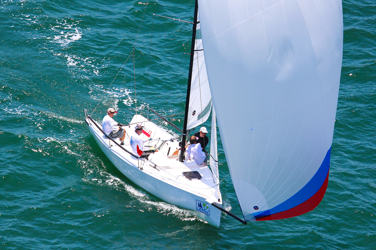David Ullman sailing in Long Beach Race Week in the J/70 Class
